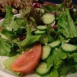 がぶ飲みワインと鉄板焼 黒鉄 - たっぷりグリーンサラダ