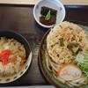 立山そば - 料理写真:かき揚げうどんのご飯セット(税込み650円)
