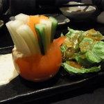 とめ手羽 - 野菜スティック