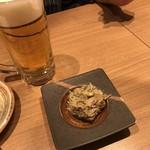 海 - 生ビールと蟹味噌