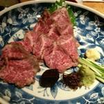 竹蔵 - 料理写真:和牛のたたき。