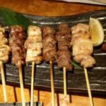 竹蔵 - 串焼き盛り合わせ。