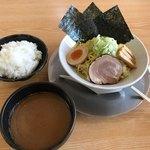 まる伝らぁめん - まる伝濃厚つけ麺830円+ご飯100円