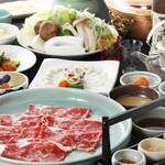 あづま - 料理写真:冬の味覚:ふぐとしゃぶしゃぶコース