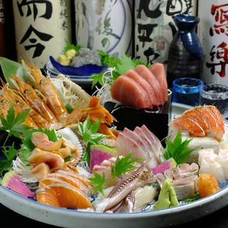 うまい魚×あて×旨い酒名物刺身10点盛り食べるべし!