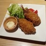 北の魚づくし - 「紅ズワイ蟹爪クリームコロッケ」