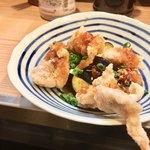 晩杯屋 - 鶏のからあげ(ピリ辛DX) 250円