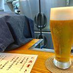立ち呑み処 おか田 - 生ビール 小 350円