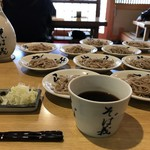 一理庵 そば義 - 皿そば+5枚追加 玉子プラス 1,545円
