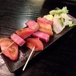 吾作どん - トマトベーコン串焼き(380円)