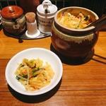 陳家私菜 赤坂一号店 湧の台所 - とてもおいしかった浅漬け(?)。