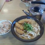 牧のうどん 空港店 - かしわ飯を追加!