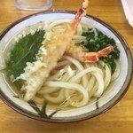 玉藻うどん - 料理写真:海老天うどん500円