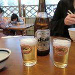 もみぢ荘 - この麒麟グラス! ビール600円