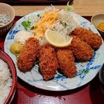 築地食堂 源ちゃん - カキフライ定食