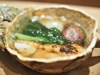 虎白 - 煮物  のど黒 小松菜