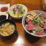 ハンバーグレストラン葦 - 葦特製牛ステーキ丼