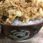 豊野丼 - 料理写真:ハゼ天丼大盛り