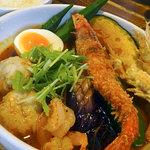 奥芝商店 - 海老祭りカリー1380円+海老スープ100円