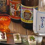 遊食酒蔵 味源 - 島豆腐珍味三種のせと限定泡盛