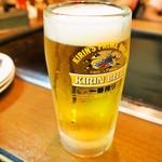 お好み焼 ひかり - 生ビール