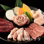 焼肉 北京 - ハーフメニューを頼まれる方は、こちらがお得『五種盛り』