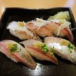 蛇の目寿司 - 鯵のにぎり寿司