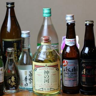 種類豊富なお酒で、アツアツ鉄板料理を肴に乾杯☆