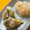 天ぷら新宿つな八 - 料理写真:かきピーマンと下仁田ねぎの天ぷら