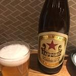 もつ焼 のんき - 瓶ビール