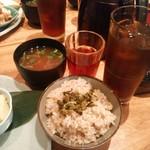 SOHSOH - 玄米ご飯、味噌汁、ほうじ茶、ウーロン茶