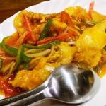 パンダ レストラン - 白身魚の衣揚げ、甘酢がけ