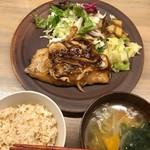 76053018 - スズキの竜田揚げ甘酢あん定食