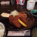 宮崎酒房 くわ - 牡蠣フライ定食