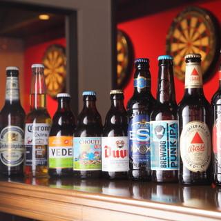 世界の特徴あるボトルビールが勢ぞろい