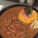 curry&cafe Warung - たことニンニクの芽のカレー
