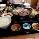 上州和牛専門店 ぐんま育ち - 醤油すき鍋ランチ1580円