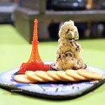 食堂とだか - 名物 甘納豆チーズタワー