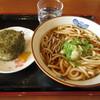 うどん・そば 今庄 - 料理写真:おにぎり(昆布)とチャンポン