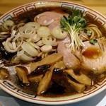 サバ6製麺所 - 【サバ醤油そば(※)】¥500(オープン記念特別価格)