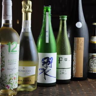 ワインから日本酒までジャンル豊富なドリンクラインナップ