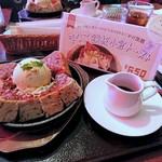 喫茶 神戸館 - 鉄板小倉トースト