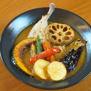 ◆オリジナルスパイス使用のスープカレー