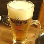 炭火串焼びんすけ - 生ビール