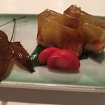 うなぎ割烹 にし村 - 水茄子と鰻のゼリー寄せ