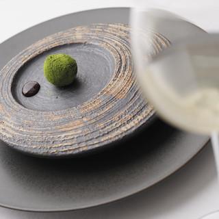 AKI NAGAO - 料理写真:フォアグラと抹茶のボンボン