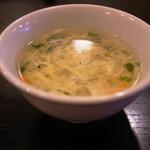麻辣王豆腐 - スープ