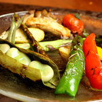 ろばたBar 熊 - 季節の野菜グリル