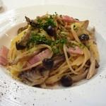 76080019 - 黒豚ベーコンと自然農法キノコ オレガノ風味スパゲッティーニ