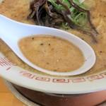 哲麺 - スープ